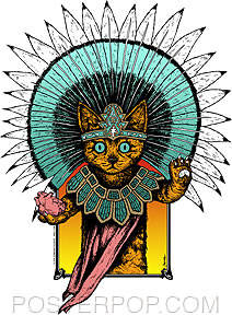 'Aztec Kitty' sticker