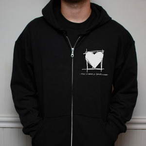 The Saddest Landscape - Cover Your Heart Zip Up Hoodie