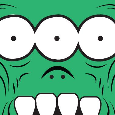 Custom Artist Record Toppers (3 Eyed Monster)