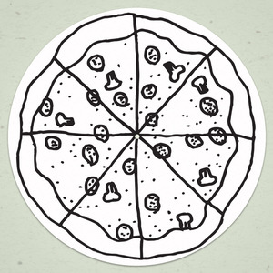 A Great Big Pile of Leaves - Pizza Slipmat