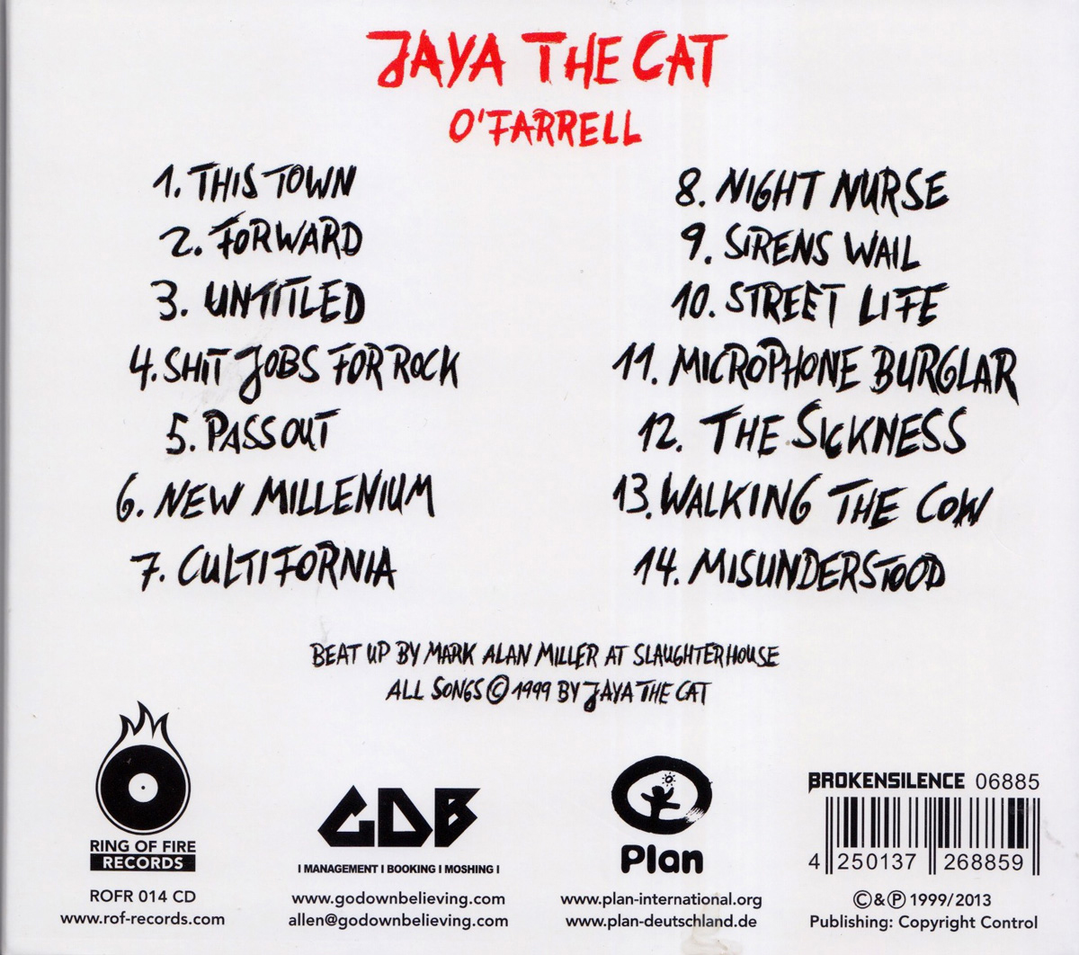 Jaya the cat albums download