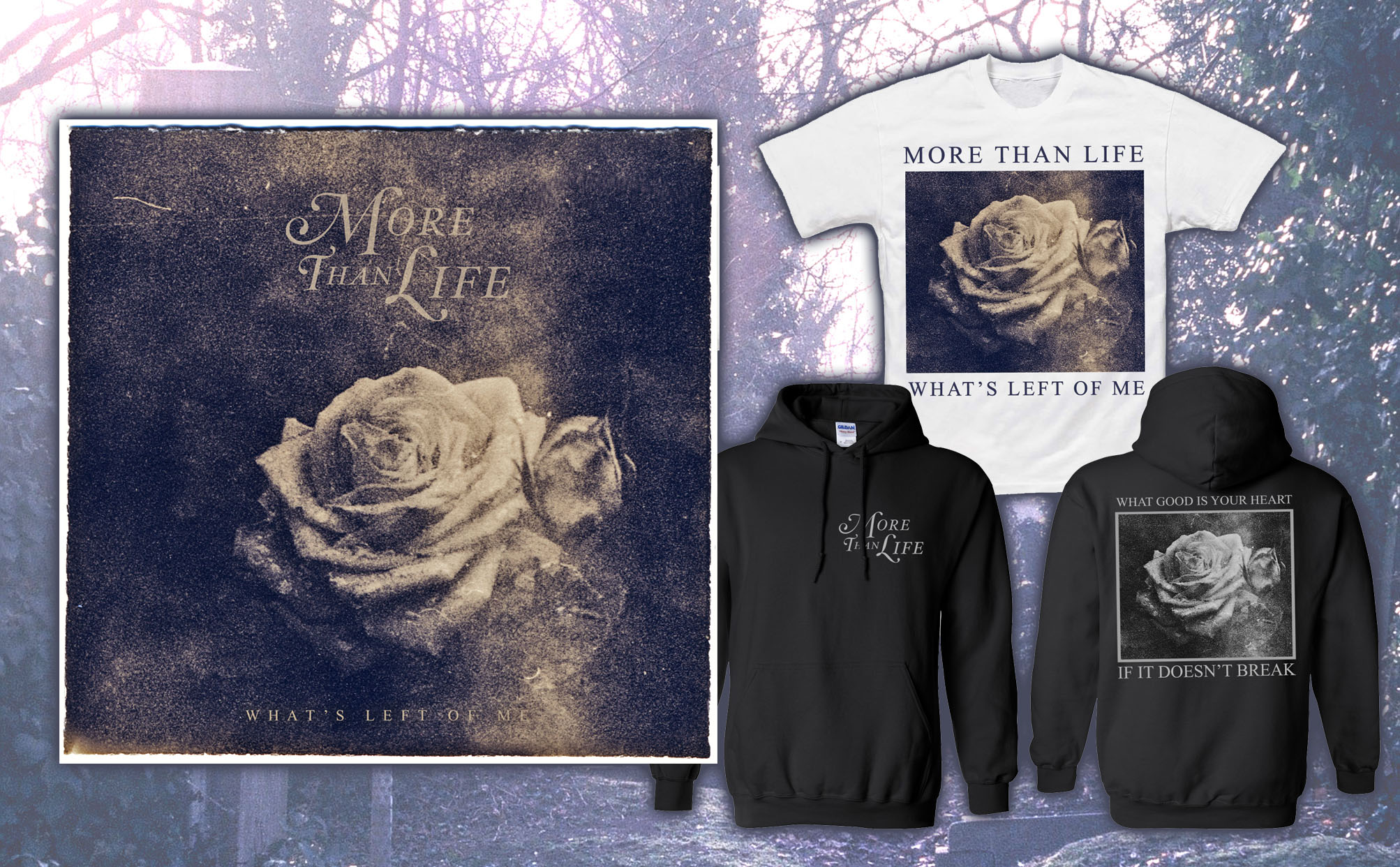 More Than Life 'What's Left Of Me' CD + T-Shirt + Hoodie