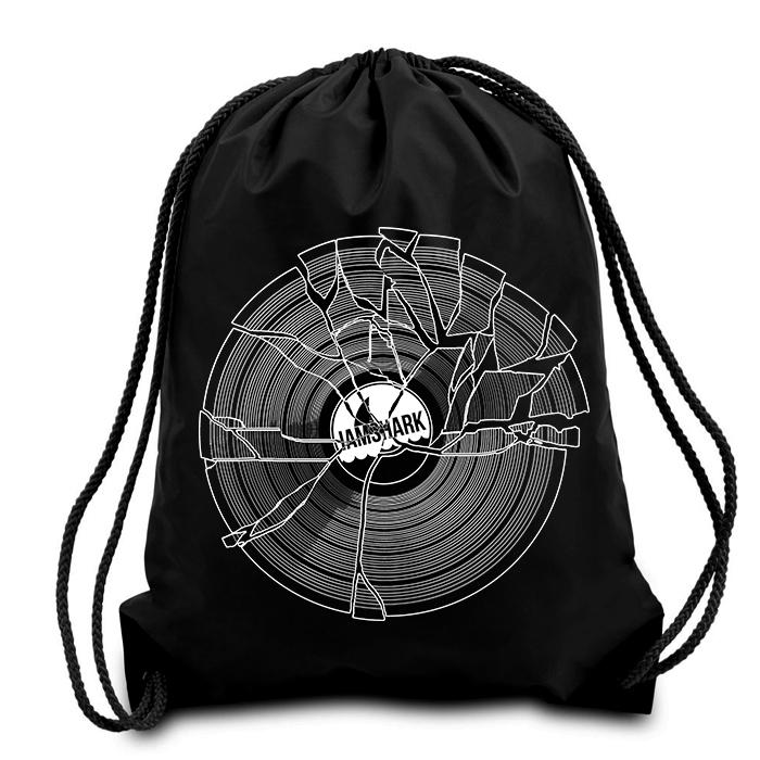 Broken Drawstring Bag Black