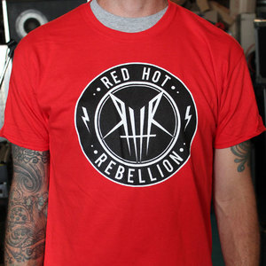 Super Red Red Hot Rebellion Mission Patch Logo T-shirt