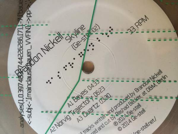"Brandon Nickell 'Skyline' (12"", EP)"