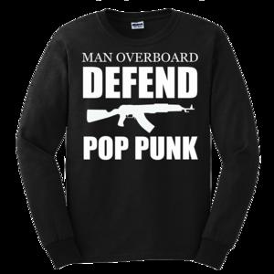 Defend Crew - White on Black
