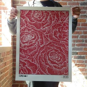 Ceremony 'Society Verse 2nd Edition' Screenprinted Poster