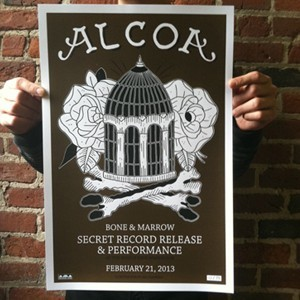 Alcoa 'Bone & Marrow Secret Release Show' Screenprinted Poster