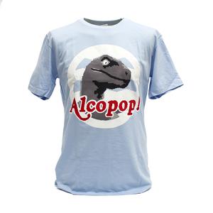 Alcopop! - 8 Bit Raptor - Blue T-Shirt