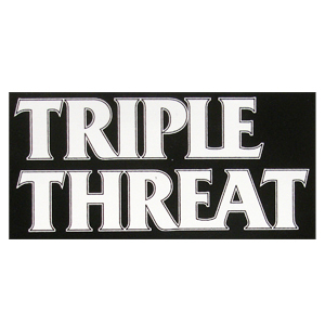 Triple Threat 'Logo' Sticker