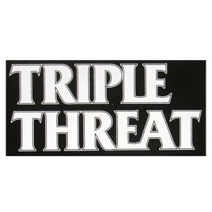 Triple Threat 'Logo' Sticker