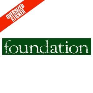 Foundation 'Oversized Logo' Sticker