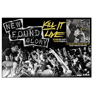 New Found Glory 'Kill It Live' Poster