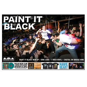 Paint It Black 'Bridge Nine Mail-order April 2009' Poster