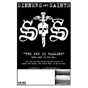 Sinners & Saints 'The Sky Is Falling' Poster