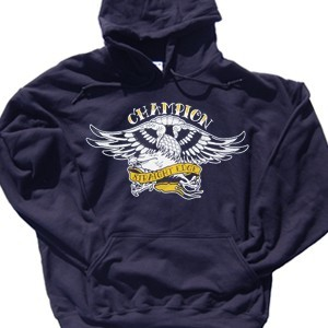 Champion 'Straight Edge Eagle' Pullover Hoodie Sweatshirt