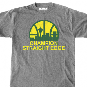 Champion 'Seattle Straight Edge' T-Shirt
