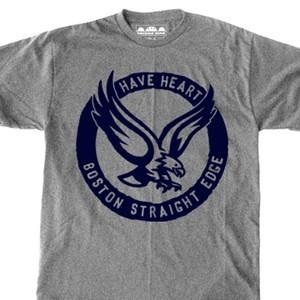 Have Heart 'Eagle Boston SXE' Gray T-Shirt