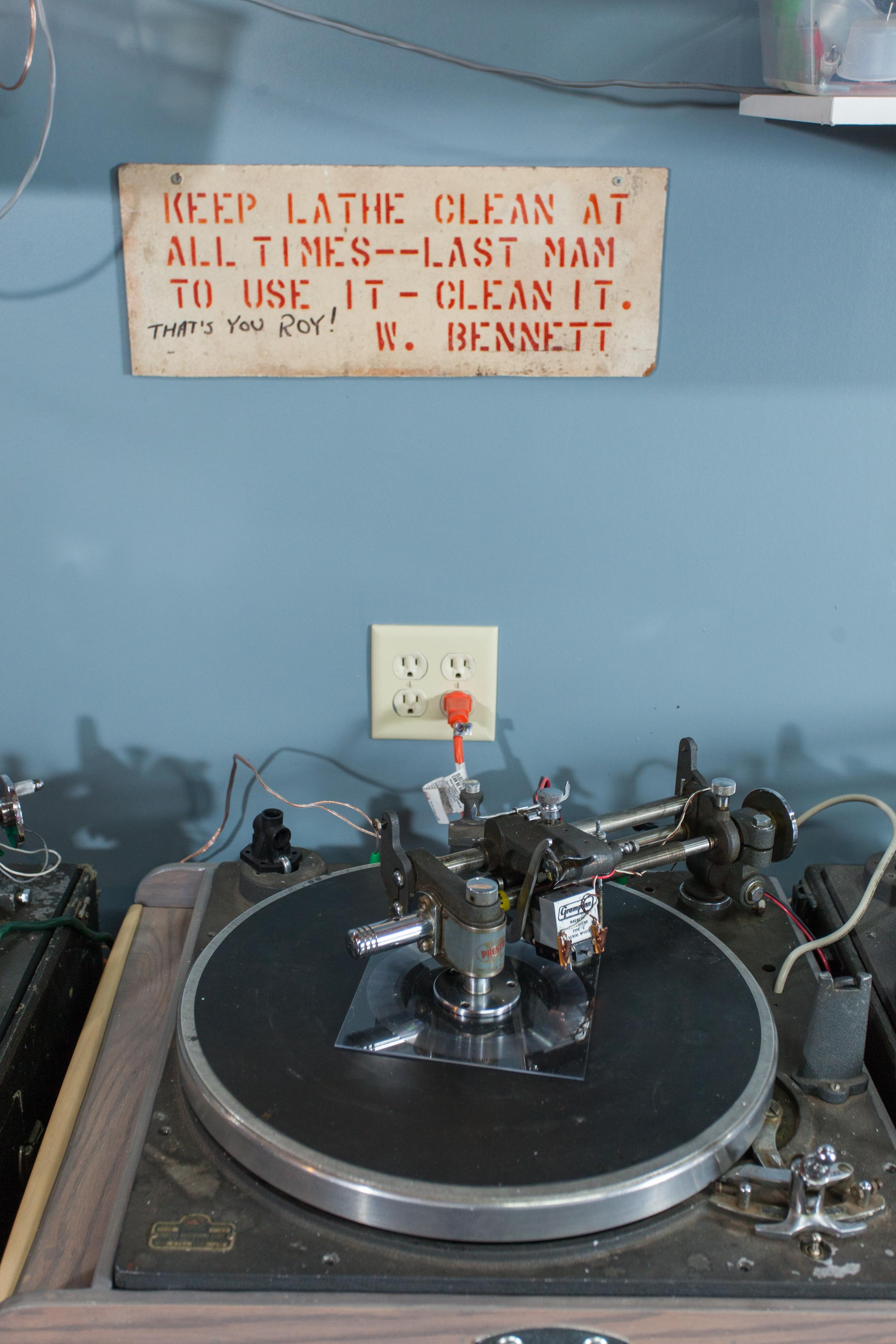 lathe cut vinyl machine