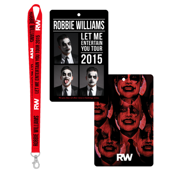 Let Me Entertain You Tour Lanyard & Laminate Set