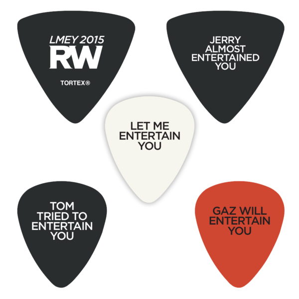 Let Me Entertain You Tour Guitar Picks