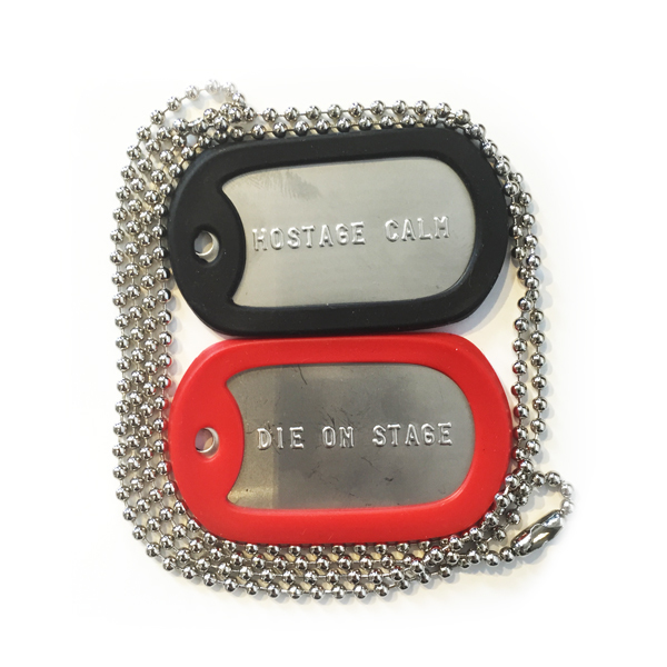 Hostage Calm - Die On Stage Dog Tags