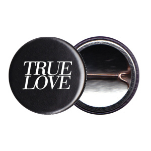 True Love 1inch Logo Button