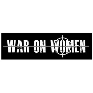 War On Women 'Logo' Sticker