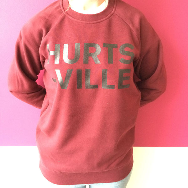 HURTSVILLE SWEATER (burgundy) SOLD OUT