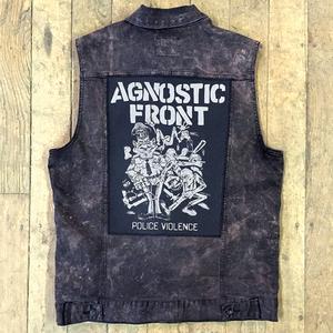 Agnostic Front 'Police Violence' Back Patch