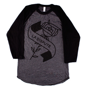 Flower - Heather Black Baseball Tee