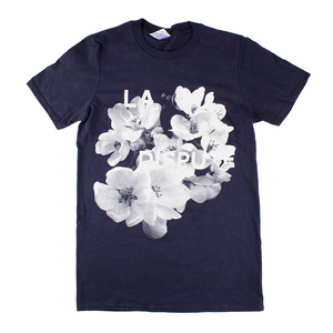 White Flowers - Navy T-Shirt
