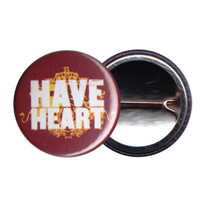 Have Heart 'Red Crest' Button
