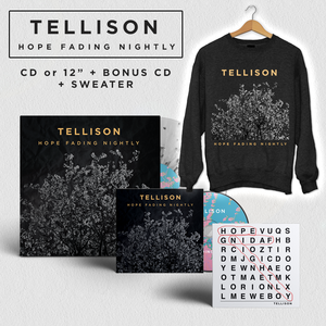 Tellison – Hope Fading Nightly - CD or 12� Sweater Bundle