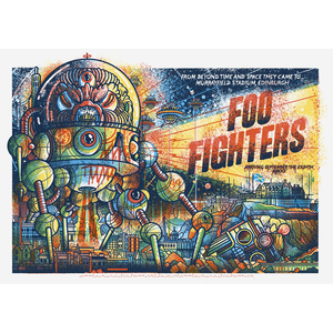 Foo Fighters Murrayfield Stadium - Print