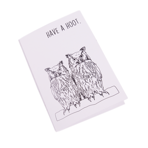 Have a hoot - Greetings Card