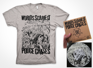 Worlds Scariest Police Chases - Adolf Hipster 7-inch + t-shirt