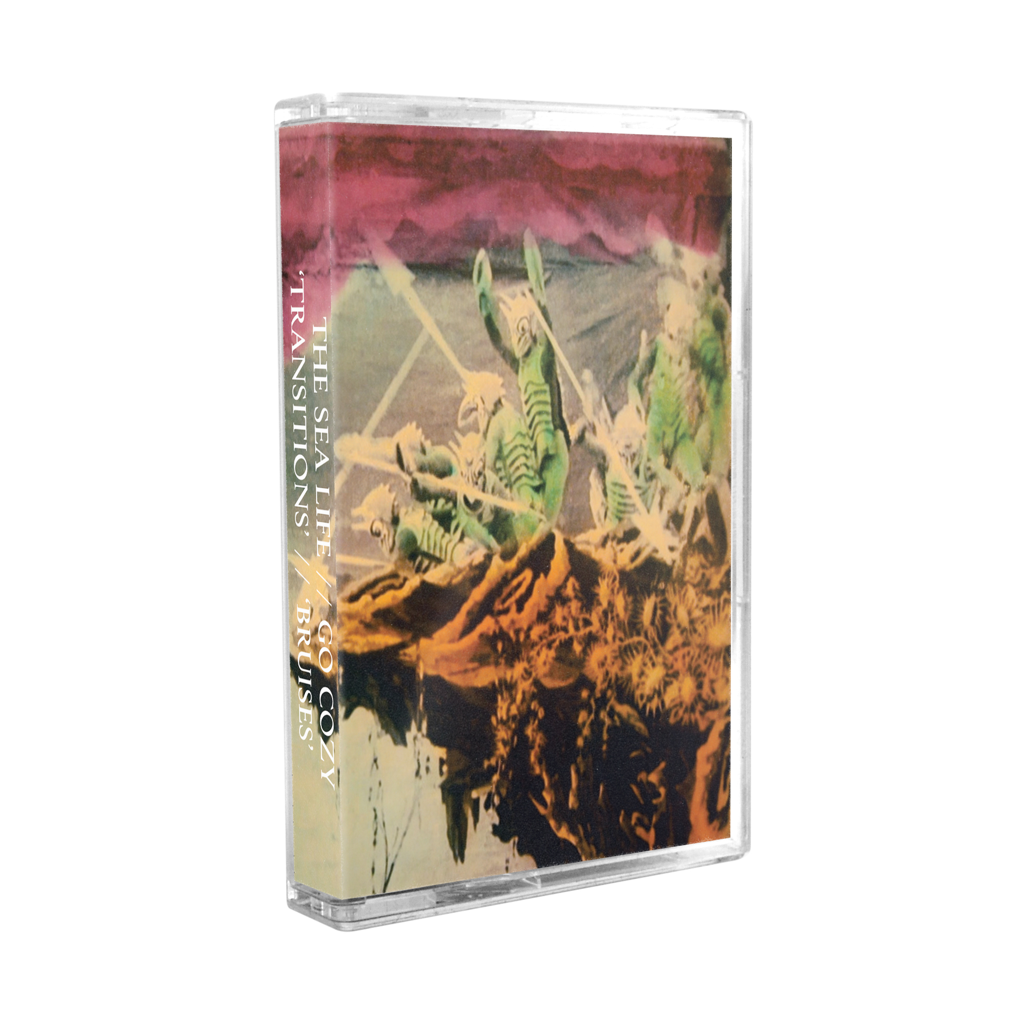 The Sea Life & Go Cozy - Transitions / Bruises (Split Cassette) *SOLD OUT*