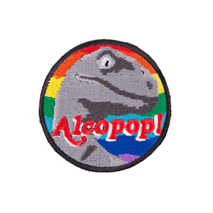 Alcopop! 8 Bit Rainbow Raptor Patch