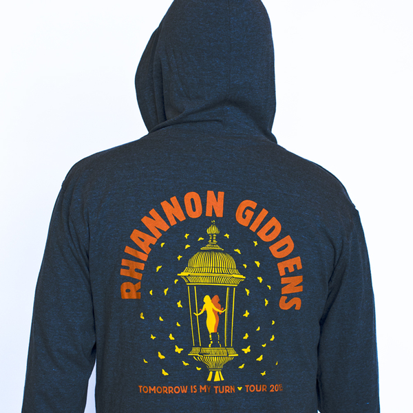 Rhiannon Giddens Dark Green Unisex Lantern Zip Up Beach Hoodie