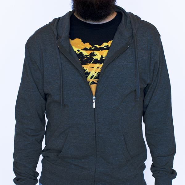 Green lantern zip up hoodie
