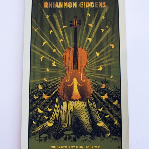 Rhiannon Giddens Tomorrow Is My Turn 2015 Tour Poster