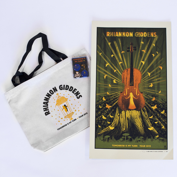 Rhiannon Giddens Tote Poster & Magnet Pack Bundle (While Supplies Last)