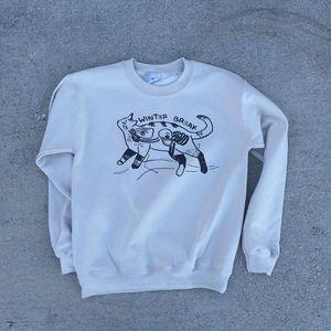 Winter Break - Cat Crew Neck Sweatshirt