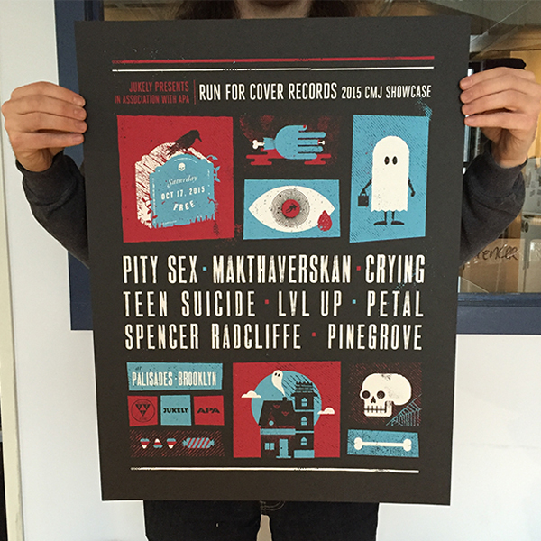 RFC CMJ Showcase 2015 Screenprinted Poster