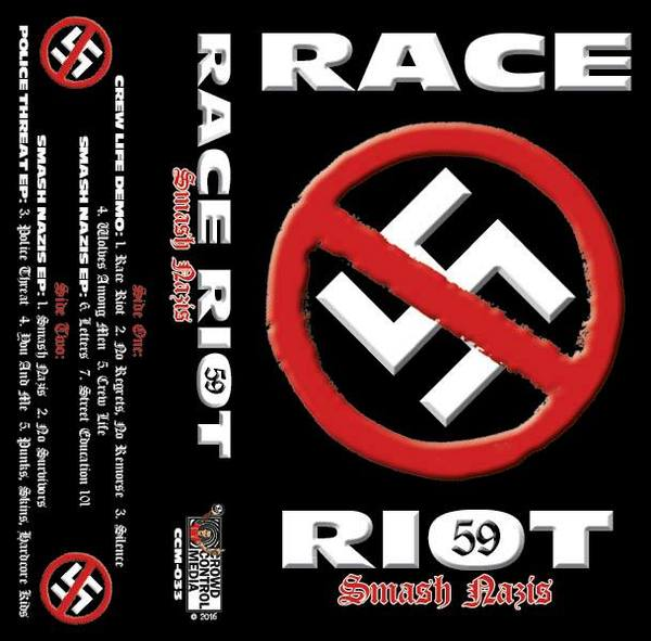 Race Riot 59 - Smash Nazis (Cassette Tape, Limited to 100 hand #'d Pieces)