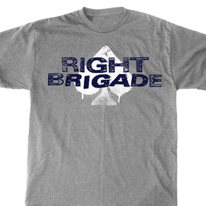 Right Brigade 'Gray Logo' T-Shirt