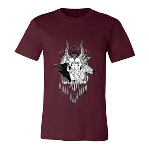 Skull - Mens Maroon Shirt