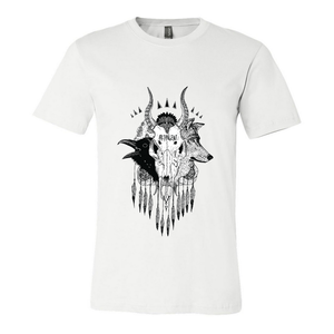 Skull - Mens White Shirt