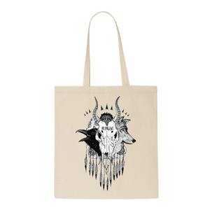 Skull - Cream Tote Bag
